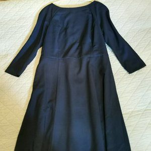 H&M dark blue, stunning boat neck dress